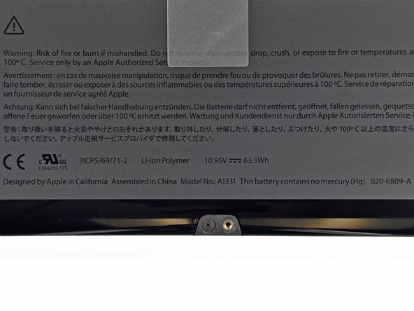 Как разобрать ноутбук Apple MacBook Unibody A1342 (5)