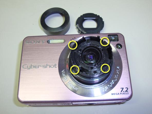 Как разобрать фотоаппарат Sony Cyber-Shot DSC-W120 (10)