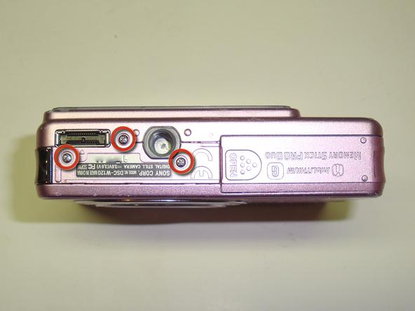 Как разобрать фотоаппарат Sony Cyber-Shot DSC-W120 (13)