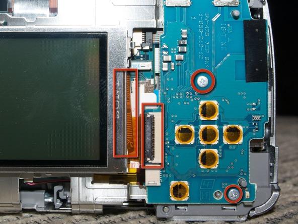Как разобрать фотоаппарат Sony Cyber-shot DSC-H2 (15)