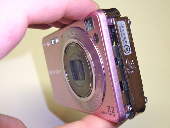 Как разобрать фотоаппарат Sony Cyber-Shot DSC-W120 (18)