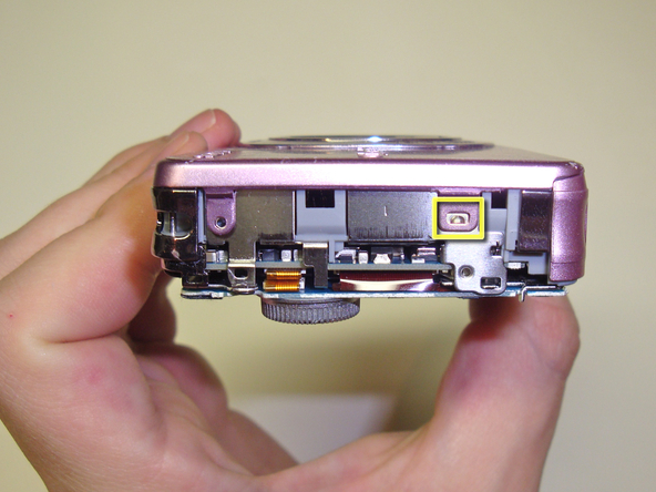 Как разобрать фотоаппарат Sony Cyber-Shot DSC-W120 (21)