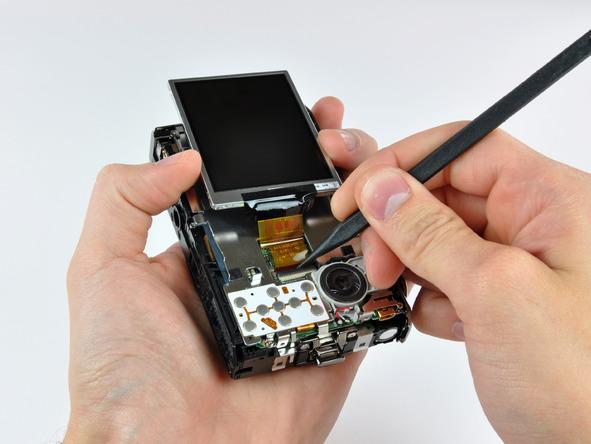 Как разобрать фотоаппарат Nikon Coolpix S1000pj (19)