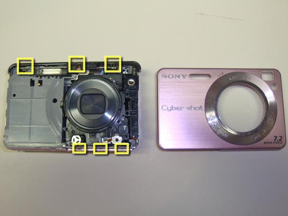 Как разобрать фотоаппарат Sony Cyber-Shot DSC-W120 (24)