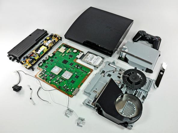 Как разобрать игровую консоль Sony PlayStation 3 Slim (50)