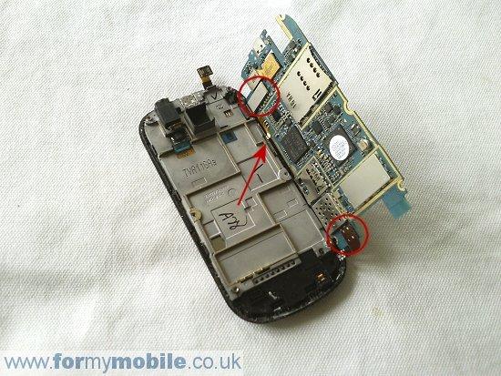 Как разобрать телефон Samsung Galaxy Apollo i5800 (6)