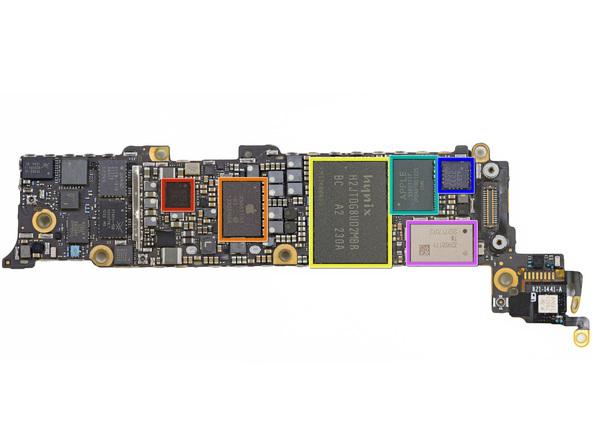 Схема айфон 5s расположением компонентов