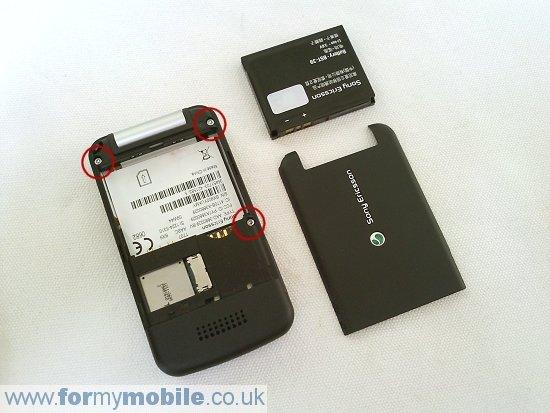 Как разобрать телефон Sony Ericsson T707 (2)