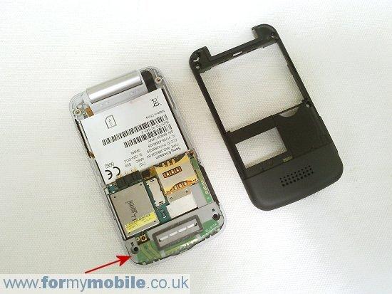 Как разобрать телефон Sony Ericsson T707 (6)