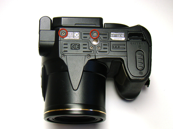 Как разобрать фотоаппарат Nikon Coolpix E5700 для замены различных компонентов (11)