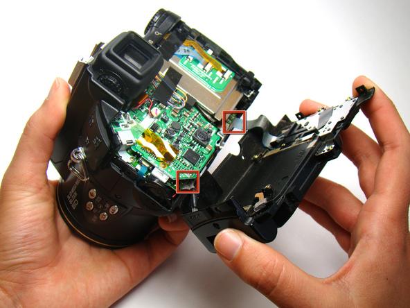 Как разобрать фотоаппарат Nikon Coolpix E5700 для замены различных компонентов (17)