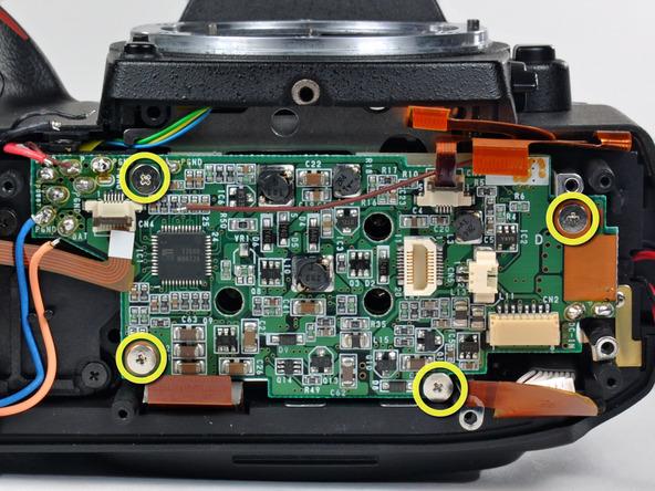 Как разобрать фотоаппарат Nikon D70 для замены различных компонентов (26)