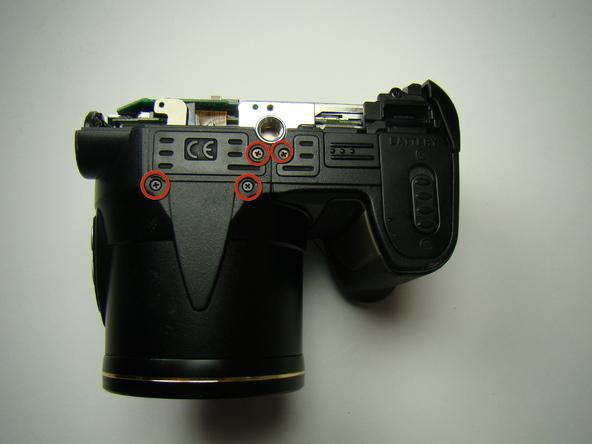 Как разобрать фотоаппарат Nikon Coolpix E5700 для замены различных компонентов (23)