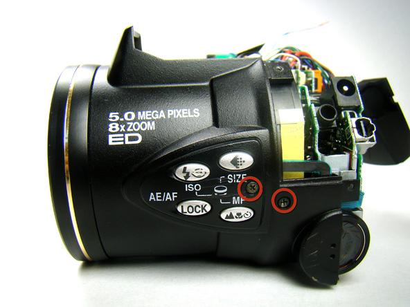 Как разобрать фотоаппарат Nikon Coolpix E5700 для замены различных компонентов (25)