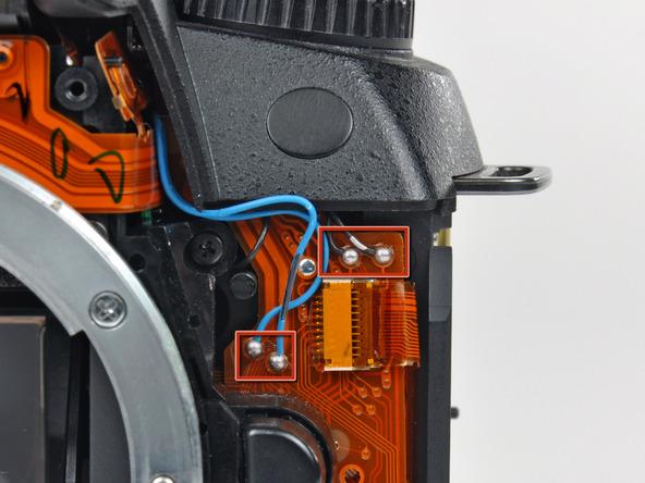 Как разобрать фотоаппарат Nikon D70 для замены различных компонентов (48)