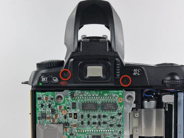 Как разобрать фотоаппарат Nikon D70 для замены различных компонентов (54)