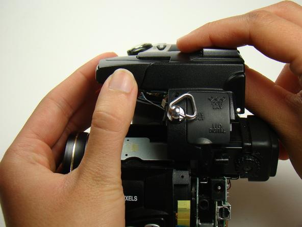 Как разобрать фотоаппарат Nikon Coolpix E5700 для замены различных компонентов (55)