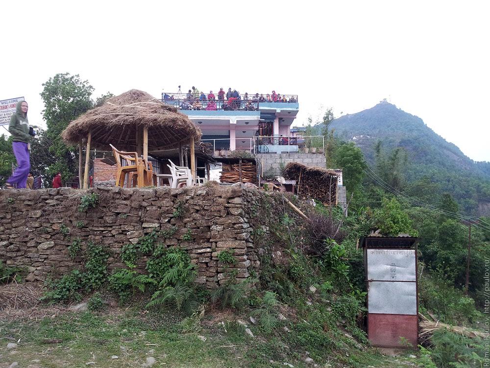 Восход над Гималайями с холма Сарангкот в Непале (2)