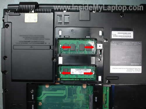 Как разобрать ноутбук Fujitsu LifeBook серии V (7)