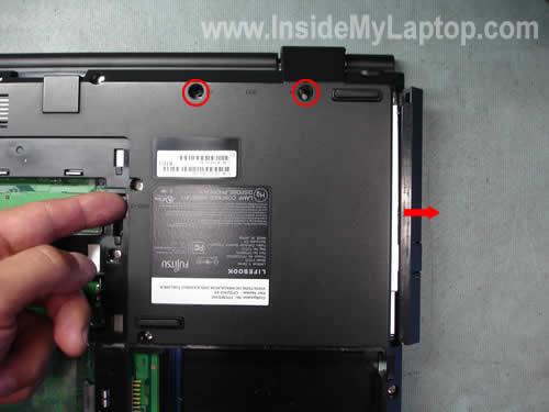Как разобрать ноутбук Fujitsu LifeBook серии V (8)