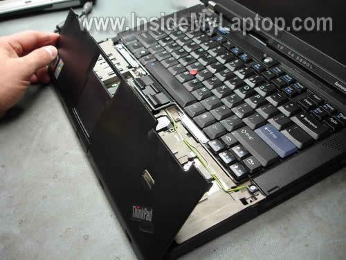 Как разобрать ноутбук Lenovo ThinkPad T61 для замены кулера (5)