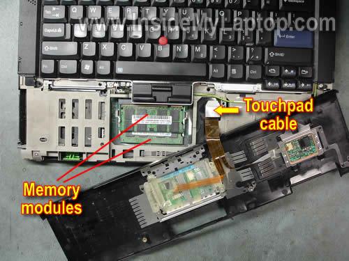 Как разобрать ноутбук Lenovo ThinkPad T61 для замены кулера (6)