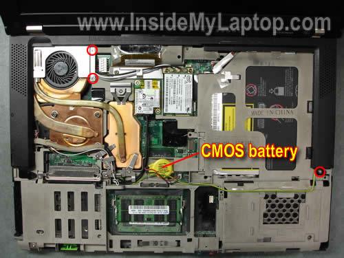 Как разобрать ноутбук Lenovo ThinkPad T61 для замены кулера (11)