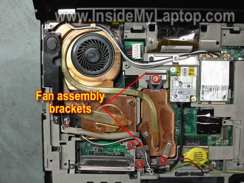 Как разобрать ноутбук Lenovo ThinkPad T61 для замены кулера (14)