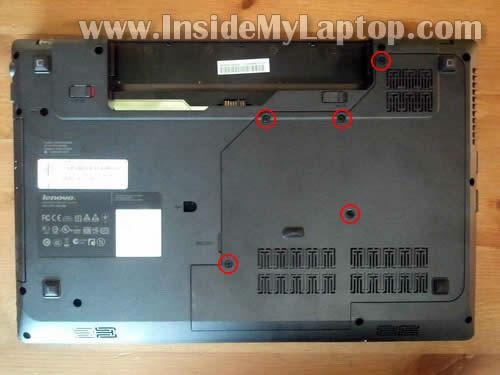 Как разобрать ноутбук Lenovo G570 для замены памяти и жёсткого диска (3)