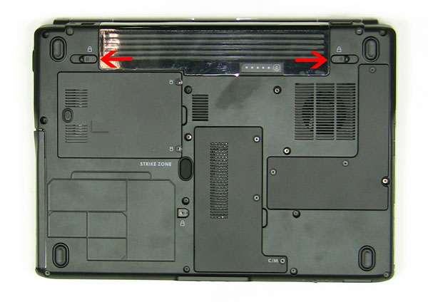 Как разобрать ноутбук Dell Inspiron 1420 / Vostro 1400: замена аккумулятора (3)
