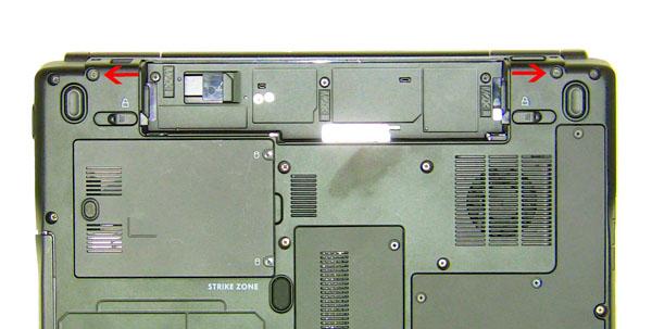 Как разобрать ноутбук Dell Inspiron 1420 / Vostro 1400: замена упора для рук с тачпадом (4)