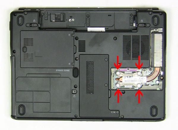 Как разобрать ноутбук Dell Inspiron 1420 / Vostro 1400: замена центрального процессора (5)