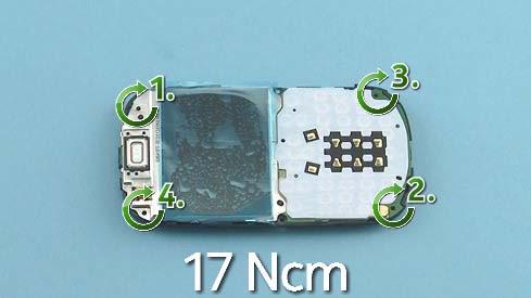 Как собрать телефон Nokia Asha 200 / 201 после замены деталей (6)