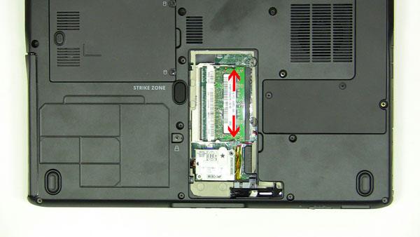 Как разобрать ноутбук Dell Inspiron 1420 / Vostro 1400: замена памяти (6)