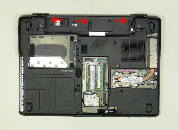 Как разобрать ноутбук Dell Inspiron 1420 / Vostro 1400: замена упора для рук с тачпадом (10)