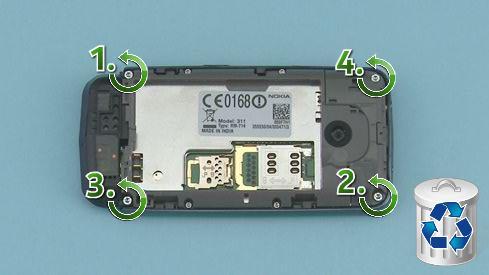 Как разобрать телефон Nokia Asha 311 / 3110 (11)