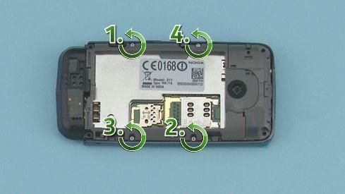 Как разобрать телефон Nokia Asha 311 / 3110 (12)