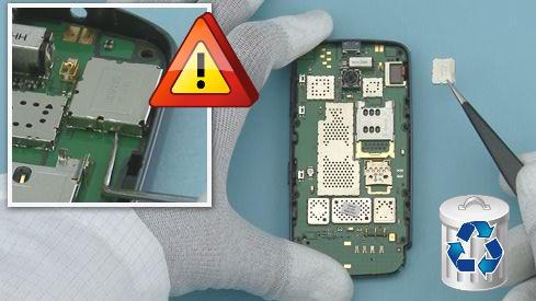 Как разобрать телефон Nokia Asha 311 / 3110 (20)