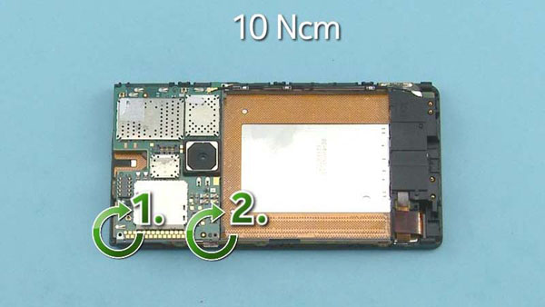 Как cобрать телефон Nokia Lumia 920 после замены деталей (56)