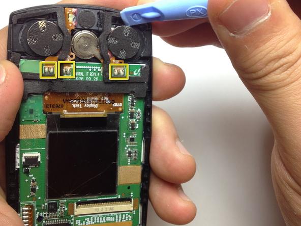 Как разобрать телефон Samsung SGH A707 (21)