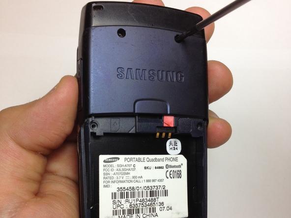 Как разобрать телефон Samsung SGH A707 (5)