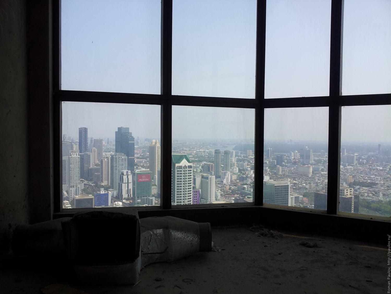 Заброшенные этажи в самой дорогой гостинице Бангкока Lebua в The State Tower (10)