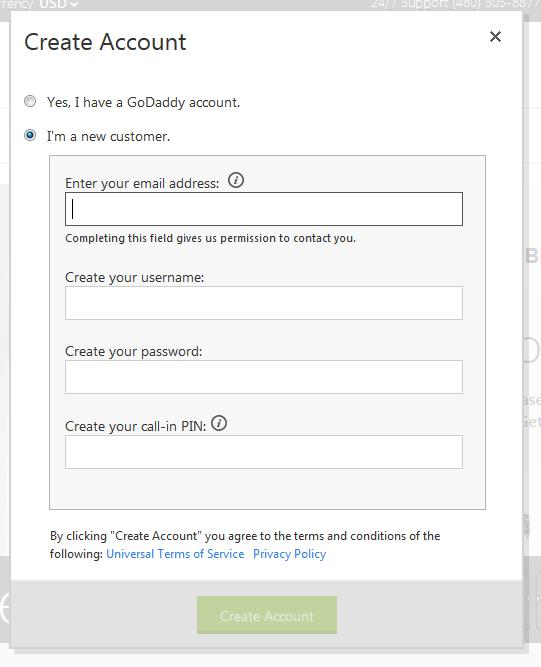 Как купить домен в зоне com у регистратора GoDaddy (3)