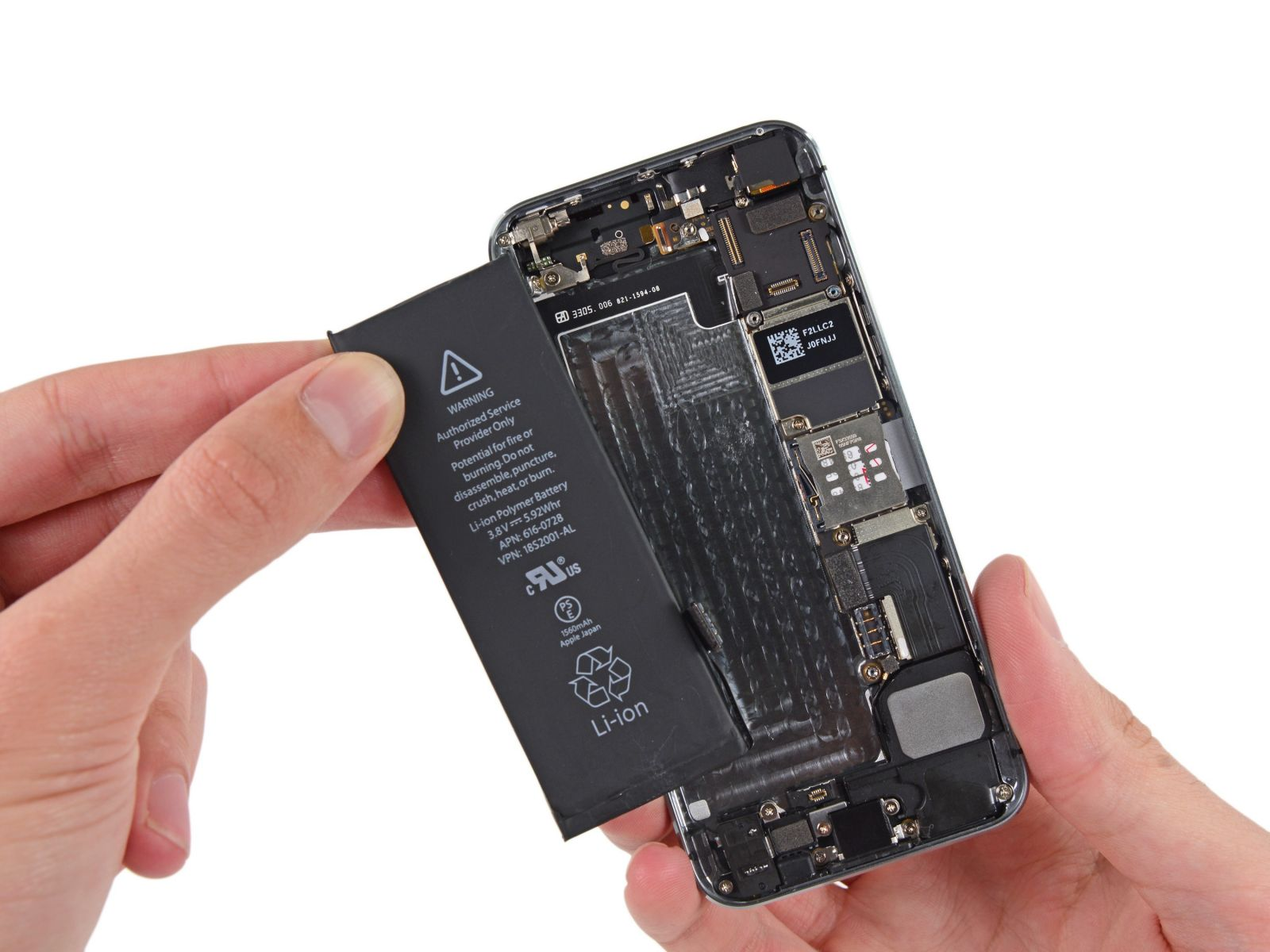 Замета аккумулятора на iPhone 5S (1)
