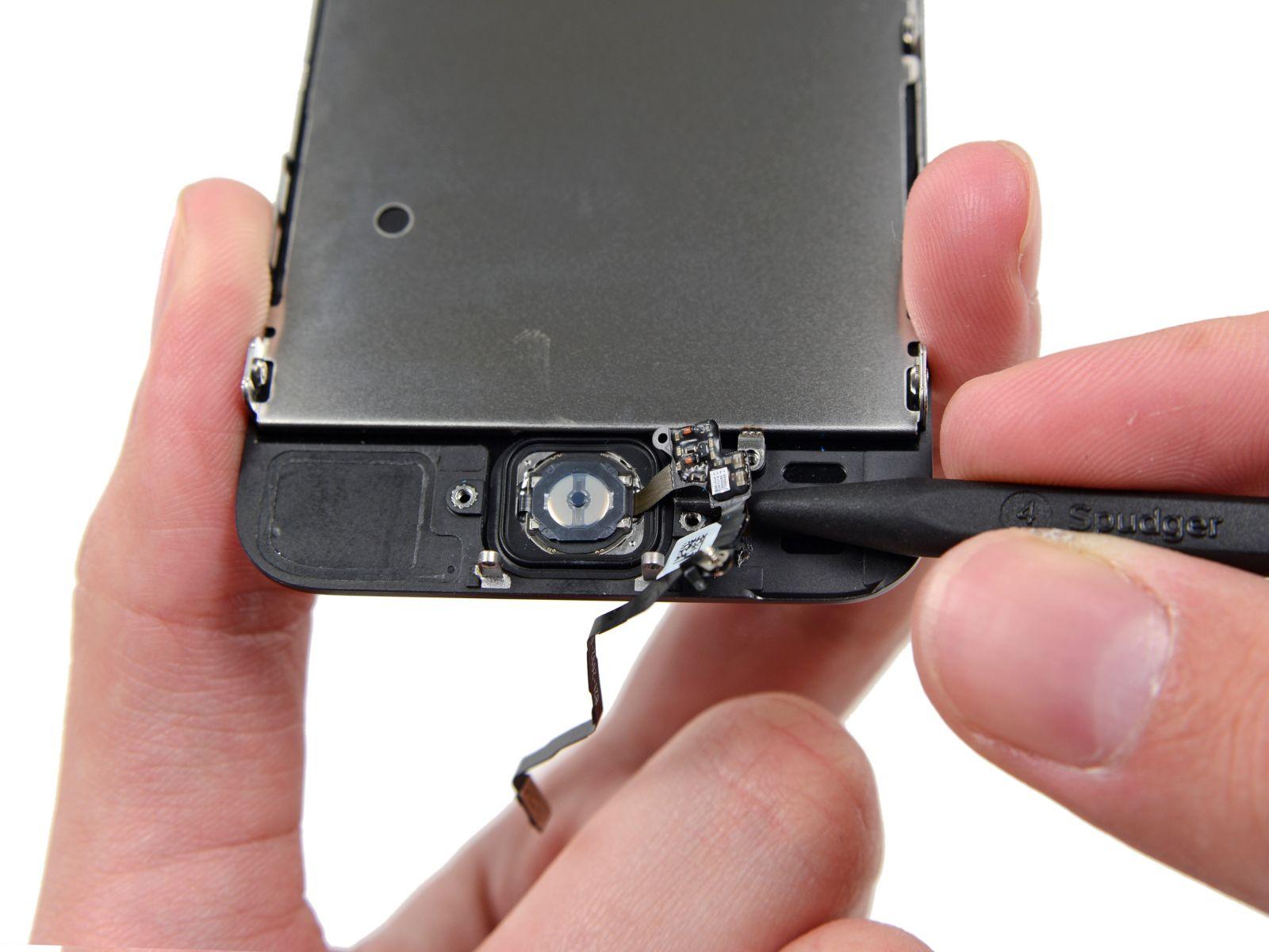 Замена кнопки «домой» на iPhone 5S (33)