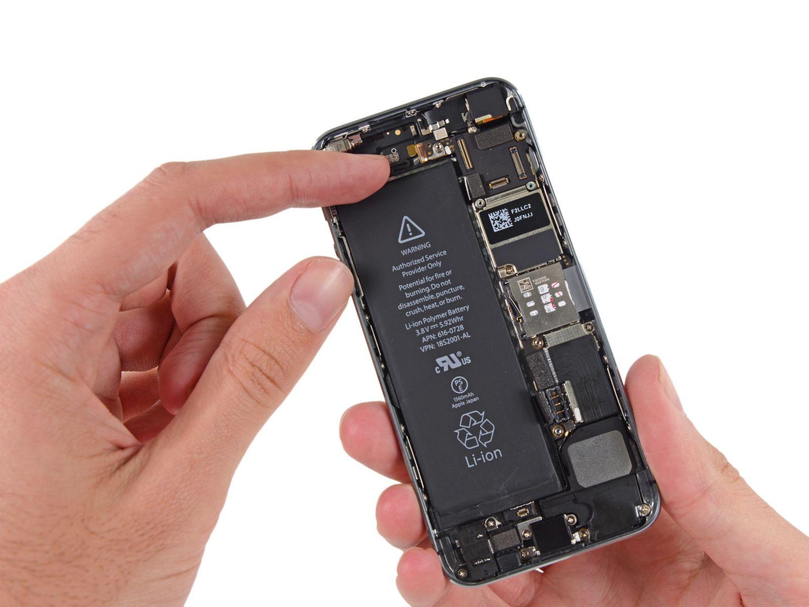 Замета аккумулятора на iPhone 5S (43)