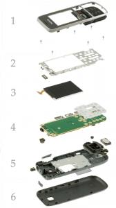 Как разобрать телефон-моноблок на примере Nokia 2700 classic